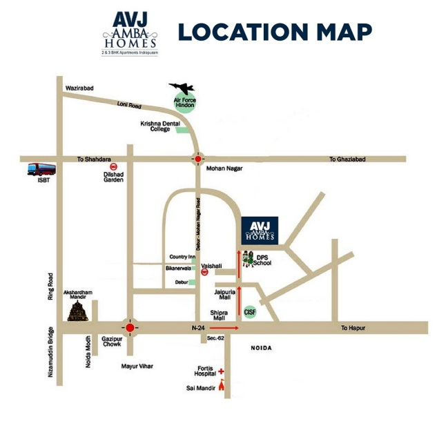 AVJ_Amba_Home_Location_Map
